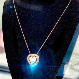 CHANEL Heart Rhinestone CC SEW ON PIN & Pendant